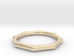 Octagon Ring in 14k Gold Plated Brass: 6 / 51.5
