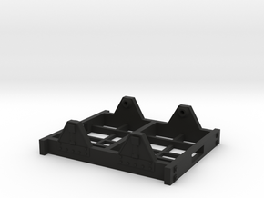 "On30 Railcar Underframe 1.5"" long Detailed in Black Premium Versatile Plastic"