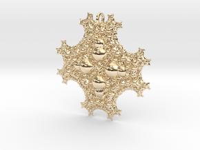 Sph Fractal Pendant in 14k Gold Plated Brass