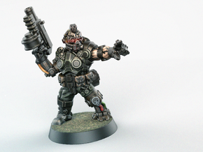 Space Mercenary - 28mm Heroic in Smoothest Fine Detail Plastic