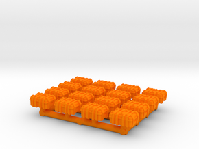 1/87 Scale Explosive Cases x16 v2 in Orange Processed Versatile Plastic
