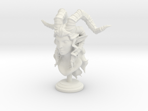 Female Satyr in White Natural Versatile Plastic