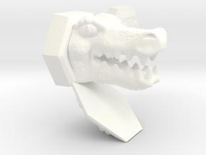 Dragonburstskeletorarmorset in White Strong & Flexible Polished