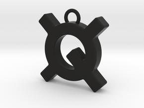Quantstamp keychain in Black Natural Versatile Plastic