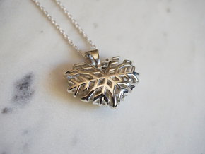 Heart of Ice in Polished Silver