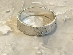 Lunar Landing Site Female (Thin) Moon Ring - Silve in Polished Silver: 3 / 44