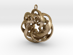 HalfPipe-3 in Polished Gold Steel