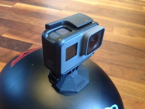 SaHeMo (Safe Helmet Mount for GoPro) in Black Natural Versatile Plastic
