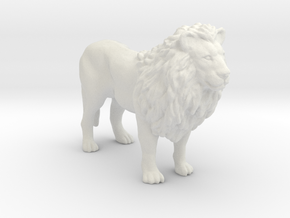 Printle Thing Lion - 1/48 in White Natural Versatile Plastic