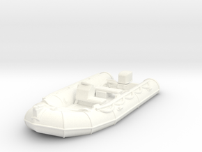 Zodiac 01 with flat bottom. HO Scale (1:87). in White Strong & Flexible Polished