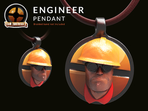 Team Fortress Engineer Pendant | Keychain in Glossy Full Color Sandstone