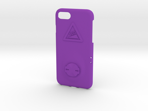 iPhone 8 Garmin Mount Case - Hill Climb in Purple Processed Versatile Plastic