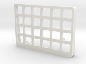Let's Split Keyboard Case - Right Top in White Natural Versatile Plastic