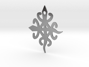 Adinkra Symbol for Unity in Diversity Pendant in Polished Silver