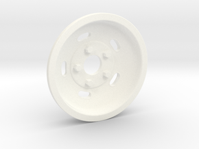 1:8 Front Indy Style Kidney Bean Wheel in White Processed Versatile Plastic