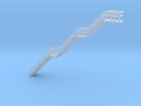 N Scale Stairs H56.2mm in Smooth Fine Detail Plastic