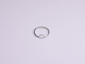 BETTER HALF Ring(HEXAGON), US size 3, d=14mm  in Polished Silver: 3 / 44