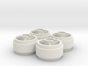 4 Mini-Z SIPT29 / F22 Wheelset +2 offset in White Natural Versatile Plastic