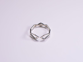 HIDDEN HEART Connect, ring us size 10.5 , 20,2mm in Polished Silver: 10.5 / 62.75