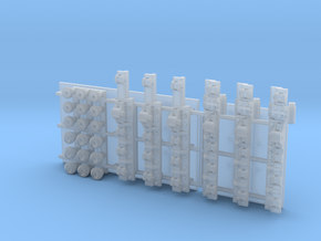 Rack  and Pinion Ore Gate ver2 set in Smooth Fine Detail Plastic