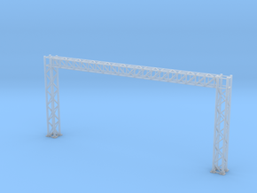 N Scale Signal Gantry L121 H54mm in Smooth Fine Detail Plastic
