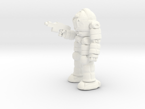 Ogre Battlesuit (POSE2) in White Strong & Flexible Polished