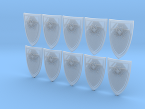 Shield Eagle - 10 15x23mm Shields in Smooth Fine Detail Plastic