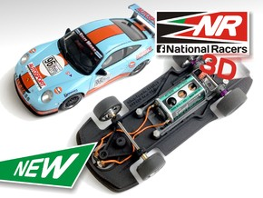 3D Chassis - Ninco Porsche 997 GT3 CUP (Combo) in Black Strong & Flexible