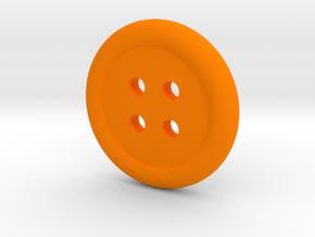Donut Button in Orange Processed Versatile Plastic
