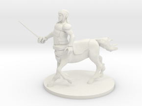 Centaur Fighter in White Natural Versatile Plastic