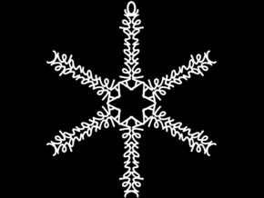 Alexander snowflake ornament in White Strong & Flexible
