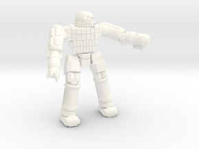 Ares IV Battlesuit  (Pose 2) in White Processed Versatile Plastic