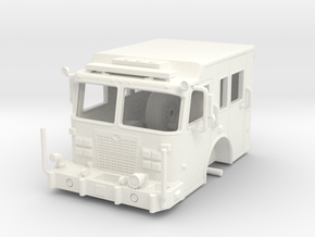 1/64-Scale Fire Apparatus Cab in White Strong & Flexible Polished