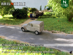 Citroën 2CV AZU 1963-'65 (N 1:160) in Smooth Fine Detail Plastic