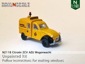 Citroën 2CV AZU Wegenwacht (N 1:160) in Smooth Fine Detail Plastic