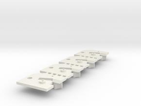 4 Sideways Mounting Plate Carrera Digital 132 D132 in White Natural Versatile Plastic
