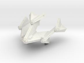 3788 Scale Tholian Battleship (BB) SRZ in White Natural Versatile Plastic