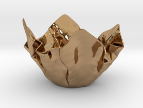 Paper Bowl (Free 3D File) in Polished Brass