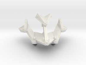 3125 Scale Tholian Battleship (BB) SRZ in White Natural Versatile Plastic