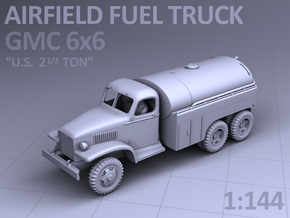 AIRFIELD FUEL TRUCK - GMC 6x6 in Smooth Fine Detail Plastic