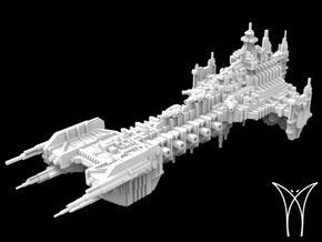 Intrepid class Space Barge in White Strong & Flexible
