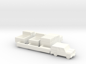 Small Trucks (+25% size) in White Processed Versatile Plastic