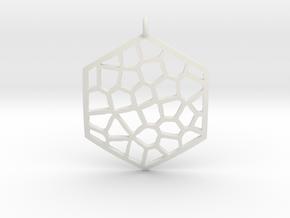 Honeycomb Pendant in White Natural Versatile Plastic