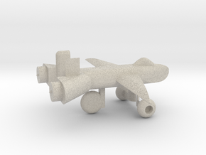 Jet w/ landing gear in Natural Sandstone
