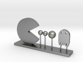 Pacman and Ghost in Natural Silver