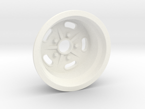1:8 Rear Halibrand Style Salt Flat Wheel in White Processed Versatile Plastic