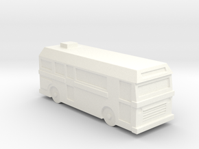 Bus in White Processed Versatile Plastic