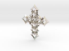 cross 06 in Rhodium Plated Brass