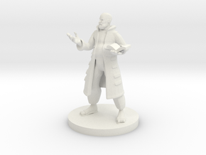 Human Wizard with Pot Belly in White Natural Versatile Plastic