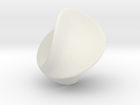 Verona Sphere in White Natural Versatile Plastic